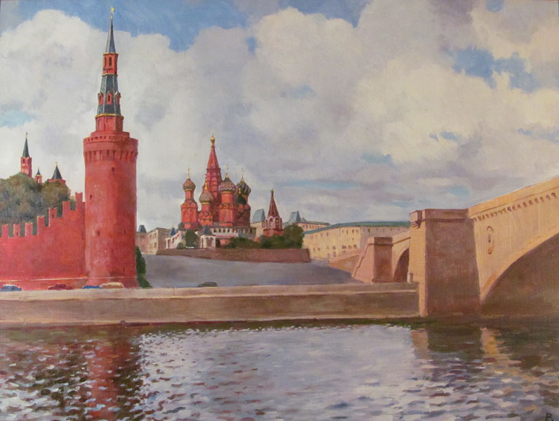 Лаповок Владимир. МОСКВА-РЕКА У КРЕМЛЯ